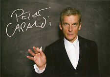 PETER CAPALDI TWELVE DOCTOR WHO SIGNED AUTOGRAPH 6 x 4 inches PRE PRINED PHOTO