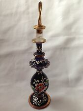 Vintage Art glass Hand Made perfume Large bottle Excellent Condition