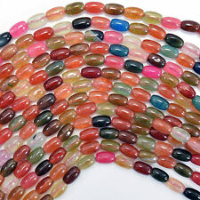 "6mm multicolor agate rice beads 15.5"" strand"