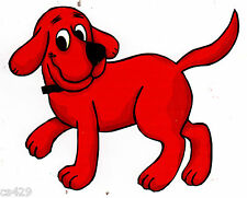 "5"" CLIFFORD THE BIG RED DOG  CHARACTER  PEEL STICK WALL BORDER CUT OUT STICKER"