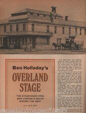 Ben Holladay Overland Stagecoach King+Calvert,Coburn,Dahler,Waddell,Stein,Street