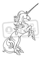 A7 'Rearing Unicorn' Unmounted Rubber Stamp (SP002089)