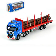 Log Transporter Truck Construction Vehicle Car Model Toy 1:50 Scale Diecast