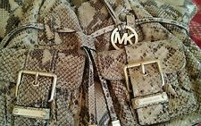 New Large  MICHAEL KORS Snakeskin purse