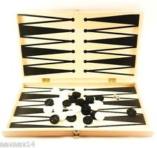 "Backgammon Set Checkers Classics Game Board Wood 17"" Fun Toy Games New Wooden"