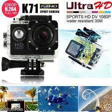 K71 LTPS HD 1080P Mini Waterproof Sports Recorder Car DV Action Camera Camcorder