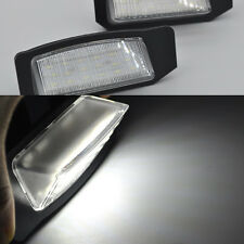 2x Bright White 18-LED License Plate Lights For Mitsubishi Lancer Sportback EU