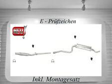 Auspuffanlage Fiat Cinquecento 900 i.e. Auspuff mit Montagesatz Neu