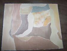 """Original Watercolor By Peg Humphreys, Various Shades of Brown Abstract 13.5""""x11"""""""