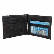 Modish PU Leather Bi-fold Money Clip with Card Holder