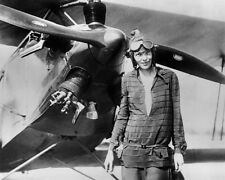 Aviator Pilot AMELIA EARHART Glossy 8x10 Photo Print Airplane Poster