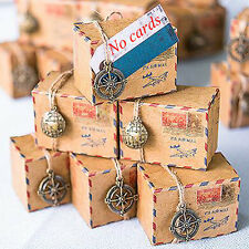 50 Pieces Small Vintage Inspired Airmail Favor Box Kit Wedding Candy Boxes