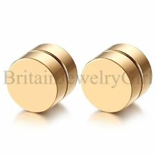 Men WomeStainless Steel Round Circle Magnetic Stud Earrings Non-piercing Clip on
