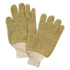 Brown/Yellow Cotton/Kevlar/Terry Cloth Full Fingered Work Glove 6 items per lot