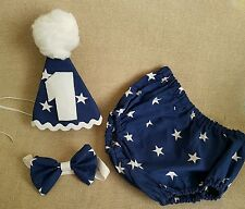 ***Boys Baby Photo Prop Navy Star Outfit - 1st Birthday/Cake Smash ***