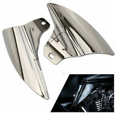 Chrome Saddle Shield Heat Deflector F Harley Touring Electra Glide &Trike 09-15