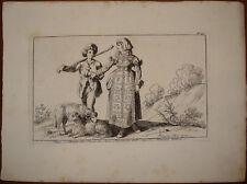 stampa antica old print Bartolomeo Pinelli 1816 abruzzo lecce nei marsi RARA