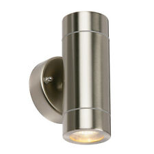 Saxby Palin 13802 Outdoor UP DOWN Stainless Steel Wall Garden Light