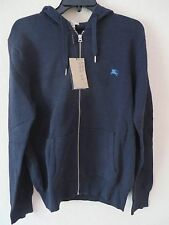 NEW BURBERRY BRIT Men's Bright Melange Navy Blue Hoodie Sweat Shirt Size L