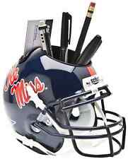MISSISSIPPI OLE MISS REBELS NCAA Schutt Mini Football Helmet DESK CADDY