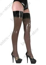 207 Latex Rubber Gummi Stocking thigh-highs socks customized catsuit sexy 0.4mm