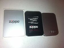EMPTY ZIPPO TIN  CASE WITH OUTER SLEEVE   NICE CONDITION FOR YOUR ZIPPO