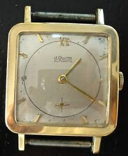Vintage Swiss Le Coultre Mens 14K Gold 17j Wristwatch Bumper Automatic P812