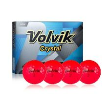 2016 Volvik 3-Piece Colored Ruby Red Crystal Golf Balls 12 Count Retail Box New!