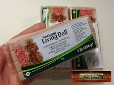 M00382x3 MOREZMORE Living Doll BEIGE 3 lb Polymer Clay Super Sculpey T20A