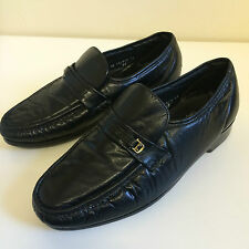 Florsheim Comfortech Mens Black Leather Padded Riva Moccasin Loafers UK Size 11