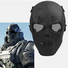 Black Skull Skeleton Full Face Mask Tactical Airsoft Paintball Protect Safety fu