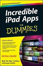 Incredible iPad Apps For Dummies, LeVitus, Bob, Good Book