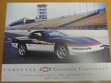 ORIG. 1995 CORVETTE OFFICIAL INDY PACE CAR 1 PAGE COLOR DEALER BROCHURE MINT