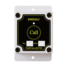 SINGCALL Wireless Calling Single Button Bell for Construction Restaurant Hotel