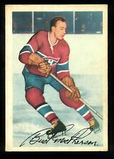 1953 54 PARKHURST HOCKEY #22 JAMES BUD MACPHERSON EX+ MONTREAL CANADIENS CARD