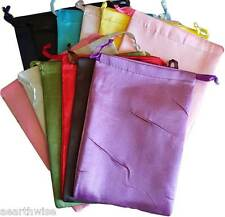 12 x SATIN POUCHES ASSORTED COLOURS 203 x 152 mm Wicca Witch Pagan Goth 12 xBAGS