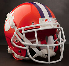 CJ SPILLER CLEMSON TIGERS Schutt EGOP Football Helmet FACEMASK - WHITE
