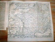 1747 newspaper w detailed MAP of FRANCE during WAR of the AUSTRIAN SUCCESSION