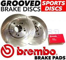 Civic TYPE R EP3 2001-05 FRONT GROOVED Brake Discs & BREMBO Pads Uprated