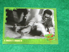 NIGHT OF THE LIVING DEAD TRADING CARD #8 smash the brain  1ST WALKERS ZOMBIES