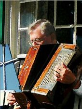 "*Postcard-""Man Plays The Old Old Accordion""  ...Classic-"
