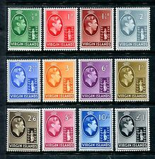 Virgin Islands 76-85 MLH 86-87 MNH King George VI 1938 Seal of Colony x20257