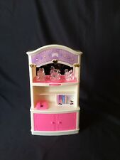 Vintage HTF~Goldlok Toys Barbie Size Interactive Electronic Hutch Cabinet Shelf