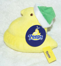 PEEPS Marshmallow Candy PLUSH TOY Christmas Santa Hat CHICK green yellow NEW!