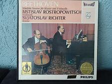 2 LP Set Rostropowitsch Richter Beethoven Piano & Cello  Philips HI-Fi LP
