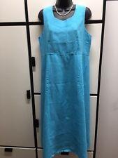 Flax S GREEN GINGHAM BLUE SKY ROSET PINK Linen Simplicity Maxi Dress