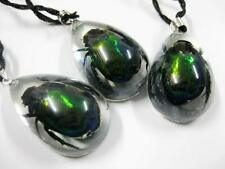 4pcs Cool Real Scarab Green Beetle Great Gifts Pendant&necklace