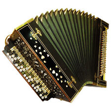 Original Antique Old Unique Russian Handmade Copper Button Accordion Bayan, 513