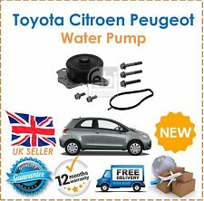 Fits Toyota Aygo Yaris Citroen C1 Peugeot 107 Subaru Justy 1.0i Water Pump NEW!