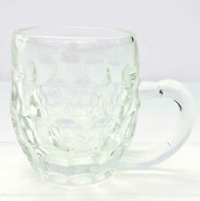 Vintage Retro Val St Lambert Half Pint Pot Dimple Glass Tankard